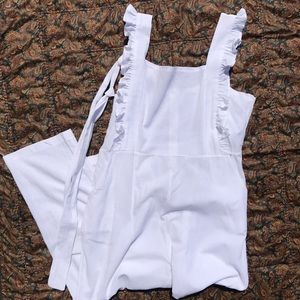 Pants - white ruffle adorable jumper sz small